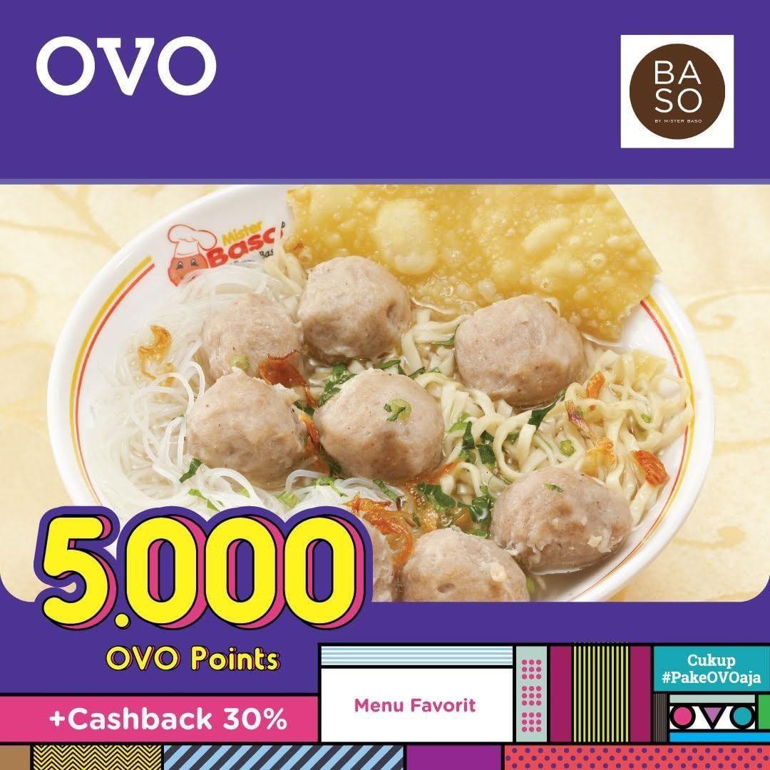 Baso by Mister Baso Promo Harga Spesial Menu Pilihan hanya Rp. 5.000 OVO Point