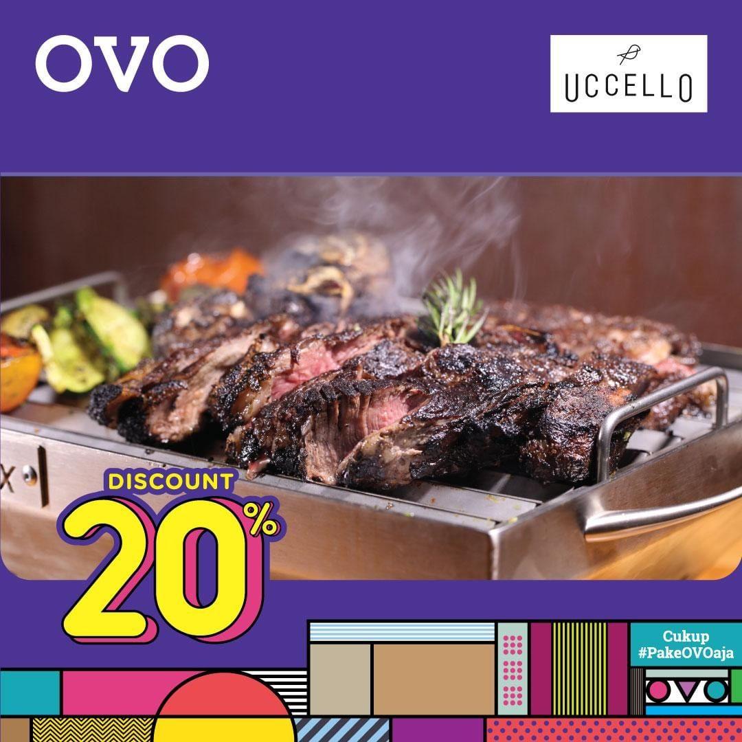 Diskon UCCELLO Promo Cashback 20% dengan OVO