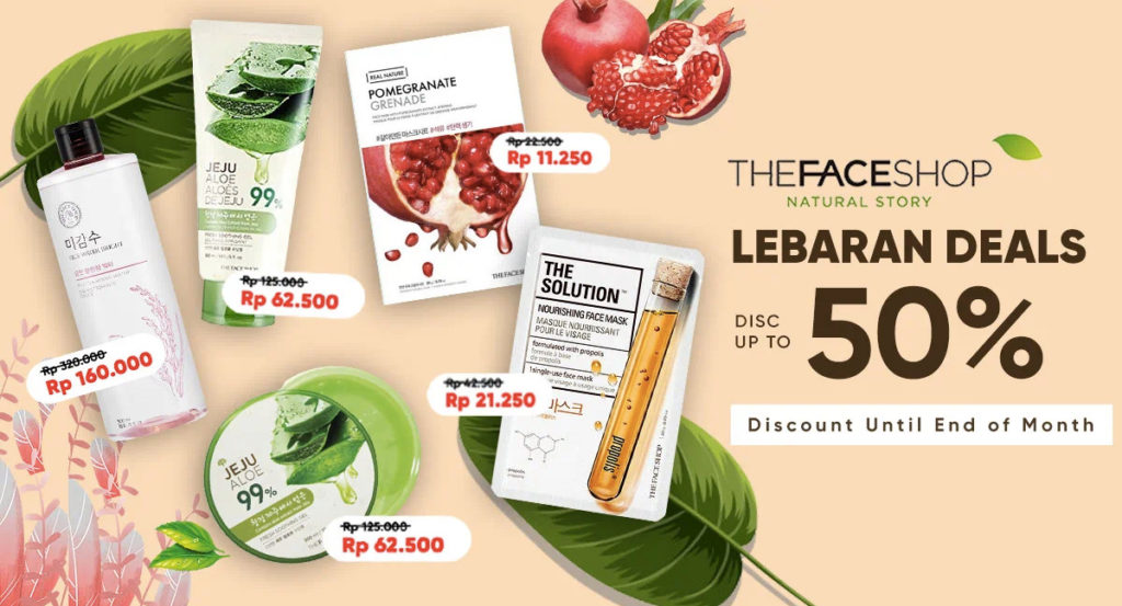 iLOTTE.COM Promo THE FACE SHOP Lebaran Deals Disc up to 50%!