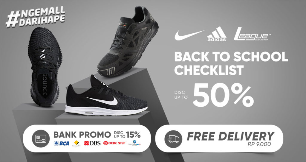 iLOTTE.COM Promo Sneakers NIKE, ADIDAS, LEAGUE Disc up to 50% + Bank Promo Disc up to 15% + Free Del