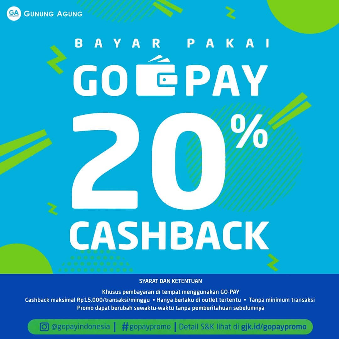 Diskon TOKO GUNUNG AGUNG Promo Cashback 20% Dengan GOPAY
