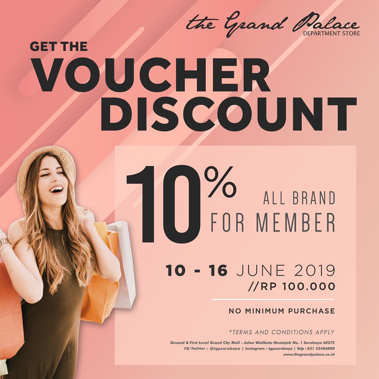 THE GRAND PALACE Promo Get The Voucher Discount 10% All Brand For Member