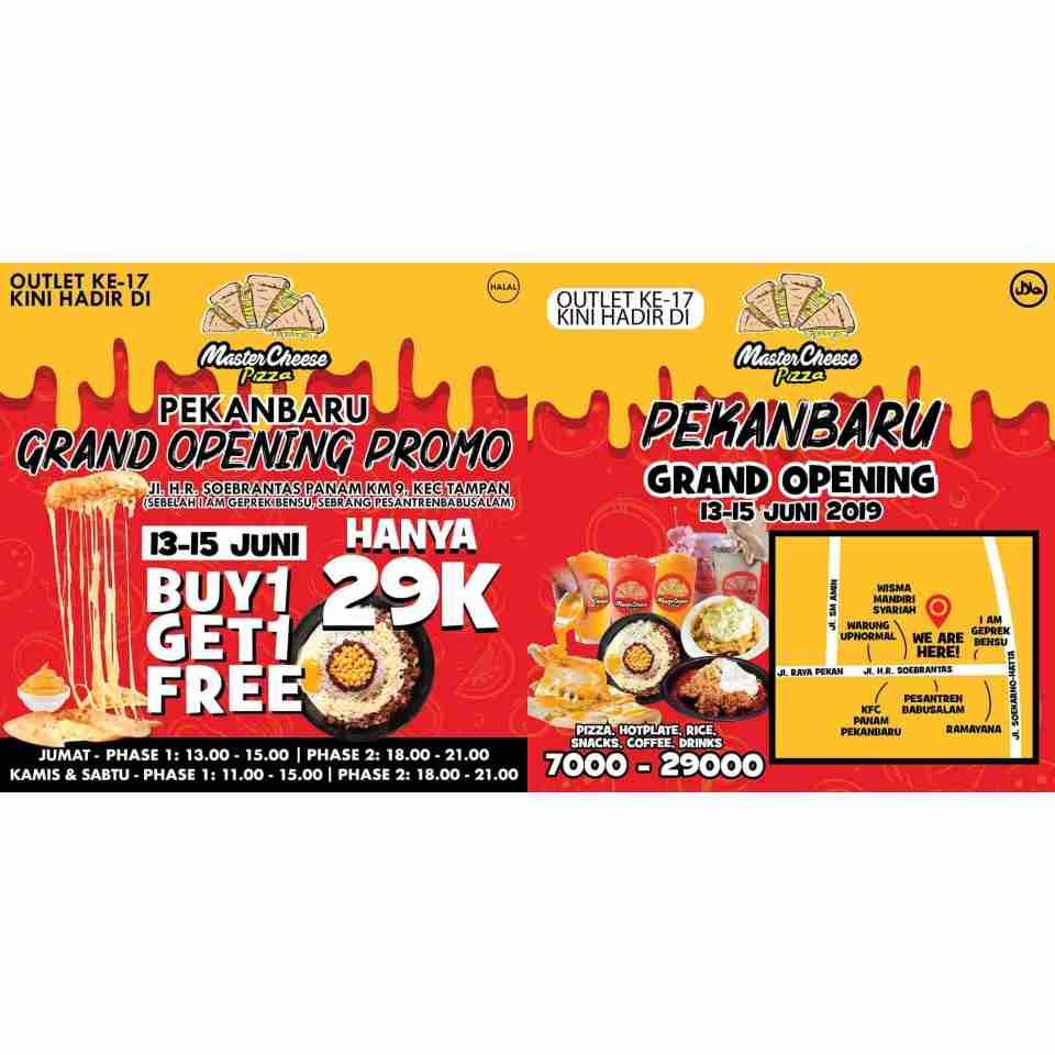 Diskon Master Cheese Pizza Pekanbaru Grand Opening Promo BELI 1 GRATIS 1