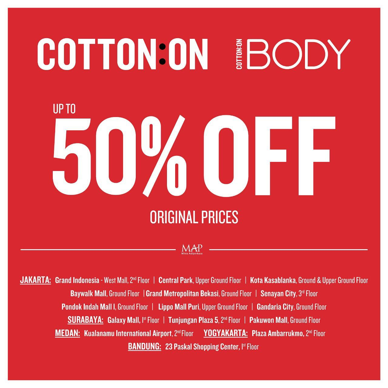 COTTON ON End of Season Sale up to 50% OFF
