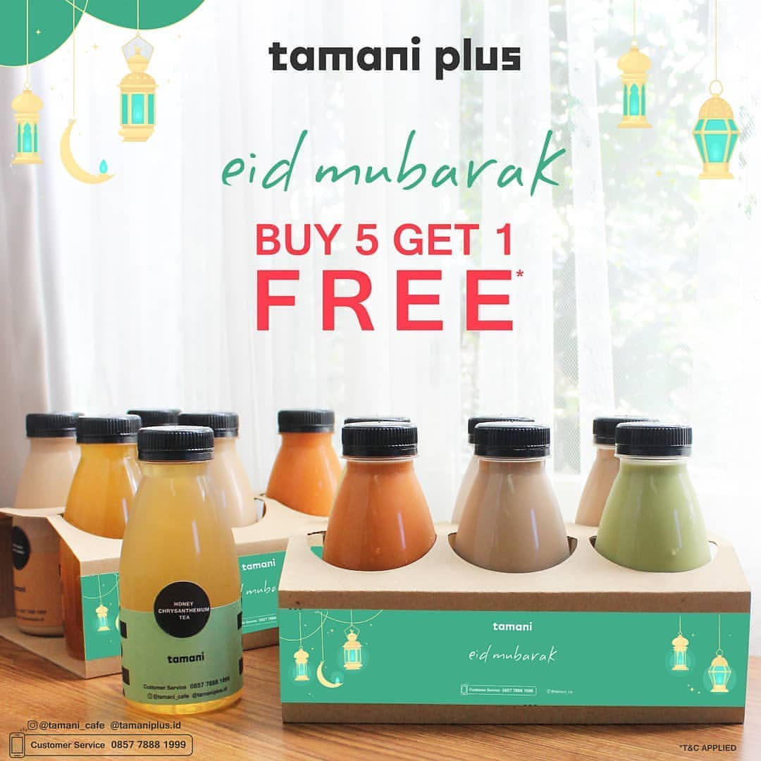 Diskon TAMANI KAFE Eid Mubarak Promo Buy 5 Get 1 Free