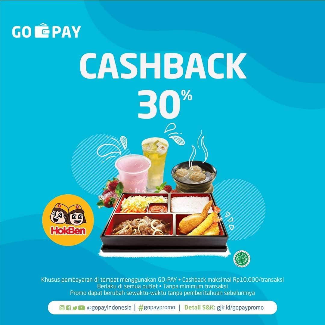 HOKBEN Promo Cashback 30% untuk dengan GO-PAY