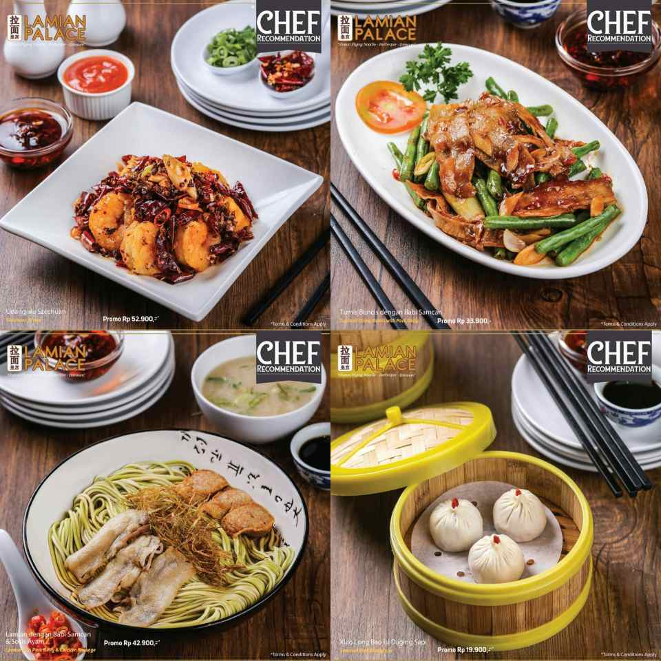 Lamian Palace Promo Menu Chef Recommendation Harga Spesial mulai Rp. 24.900