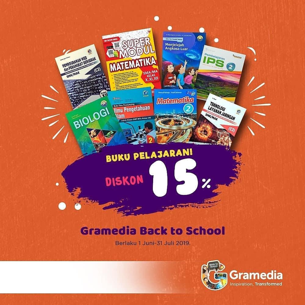 Gramedia Promo Diskon 15% Untuk Buku Pelajaran