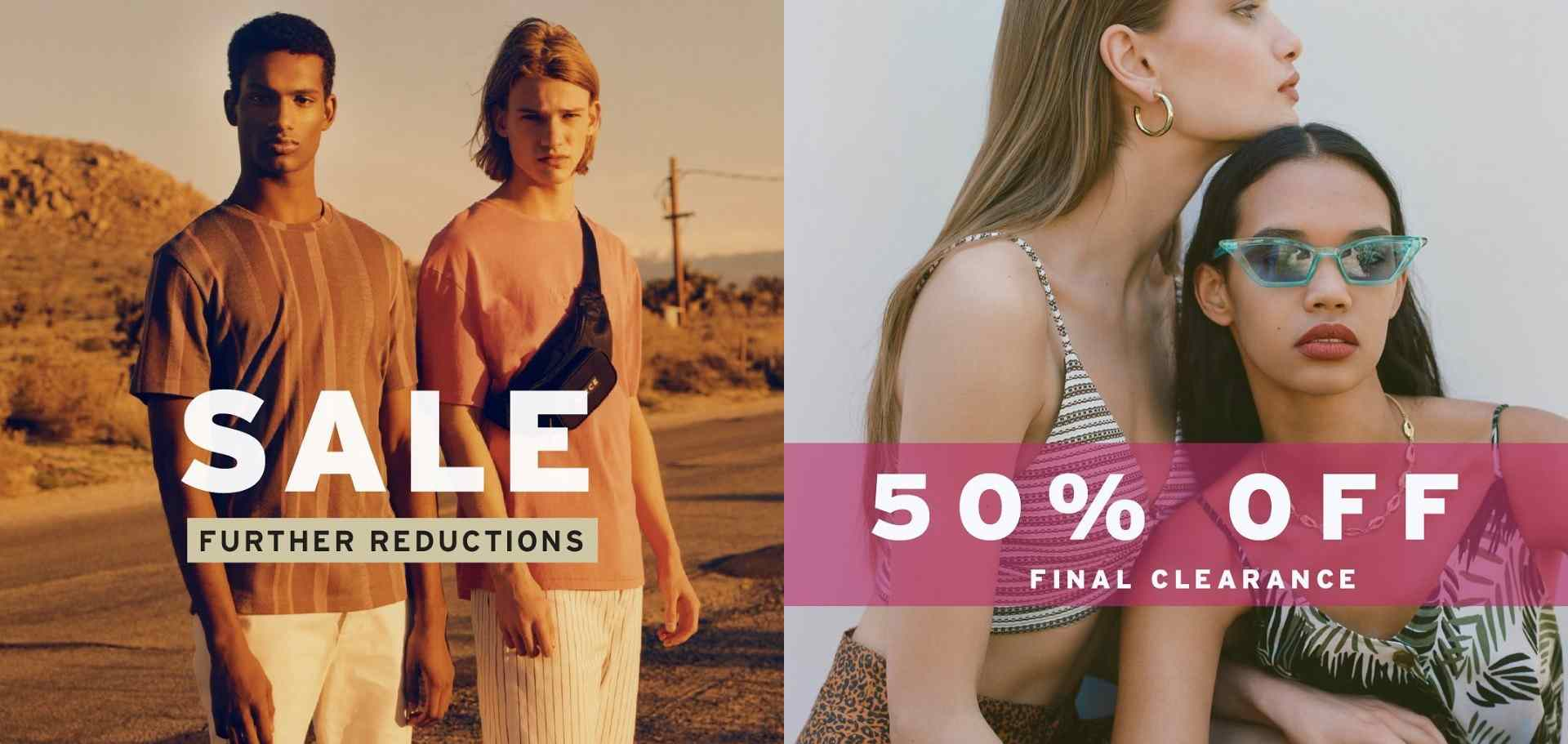 Diskon TOPSHOP atau TOPMAN Further Reduction atau Final Clearance Sale Disc Up To 50%