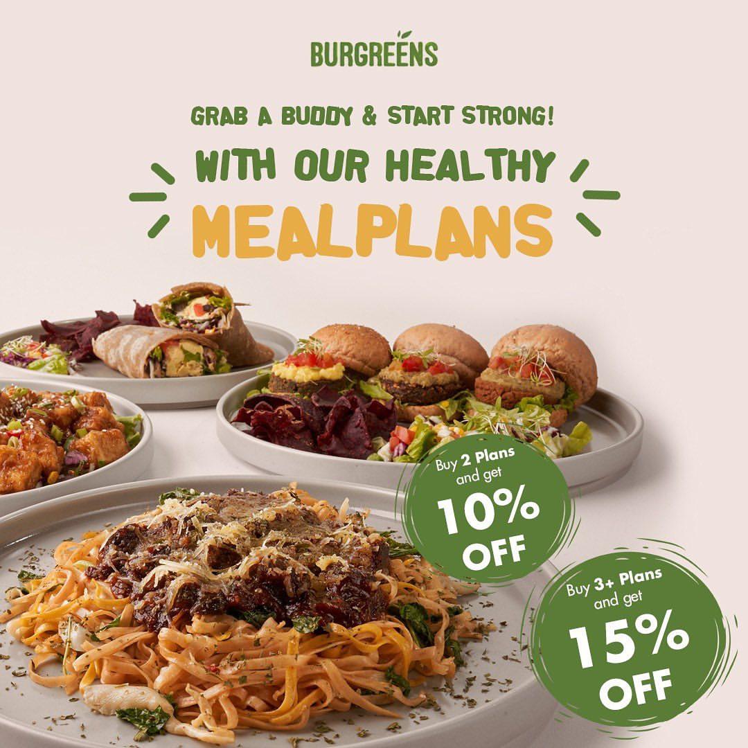 BURGREENS Diskon hingga 15% untuk pembelian Healthy Mealplans