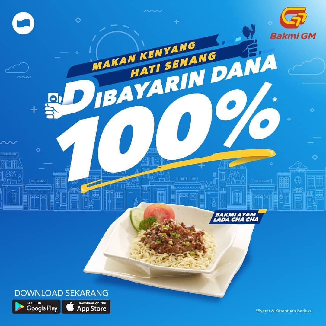 Diskon BAKMI GM Promo Dibayarin DANA sampai 100%
