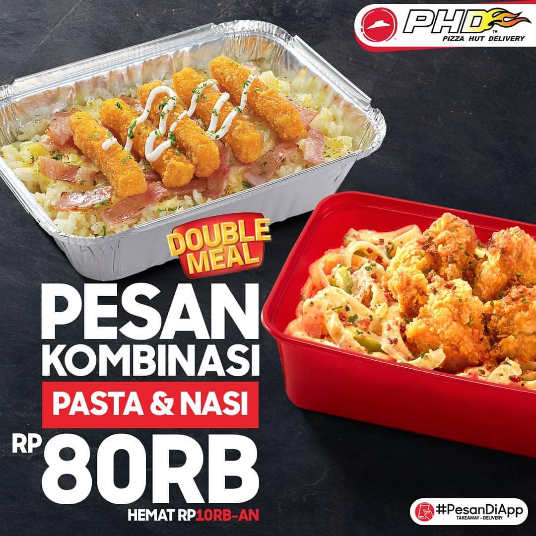 Diskon PHD Promo Double Meal Paket 2 Pasta atau Nasi atau Mix Pasta & Nasi Hanya Rp. 80.000