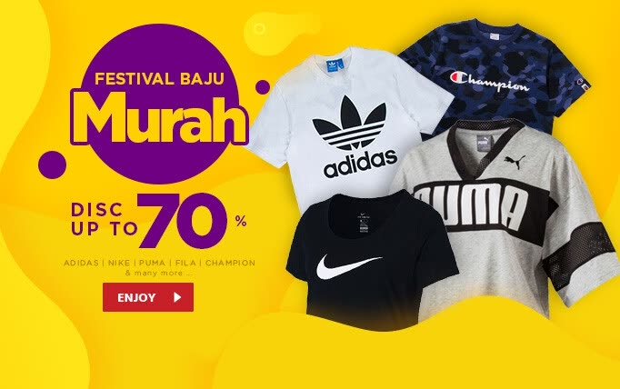JD.ID Promo FESTIVAL BAJU MURAH! Adidas, Nike, Puma, Fila, dll Disc up to 70%