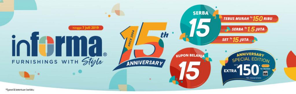 INFORMA 15th Anniversary Nikmati promo SERBA 15