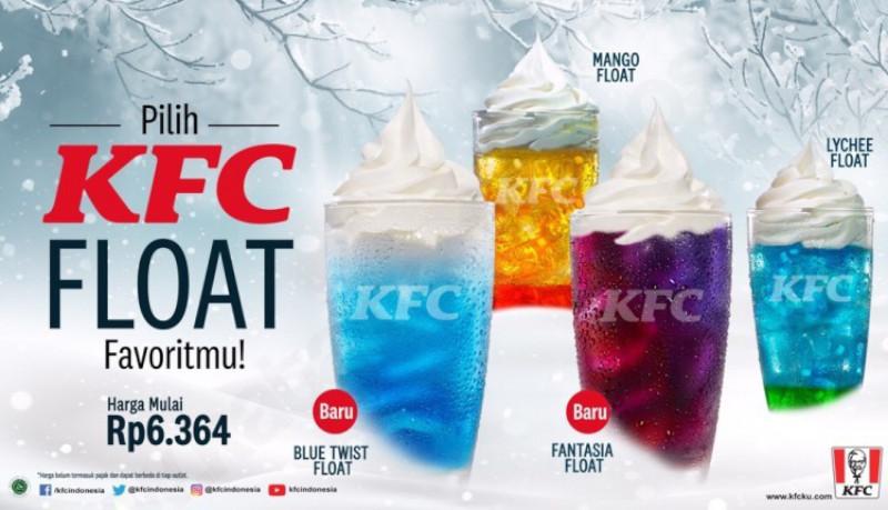 KFC FLOAT harga mulai Rp. 6.364