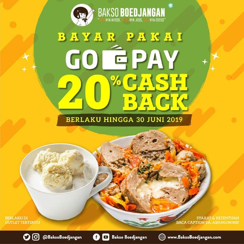 Diskon Bakso Boedjangan Promo Cashback 20% Dengan GOPAY