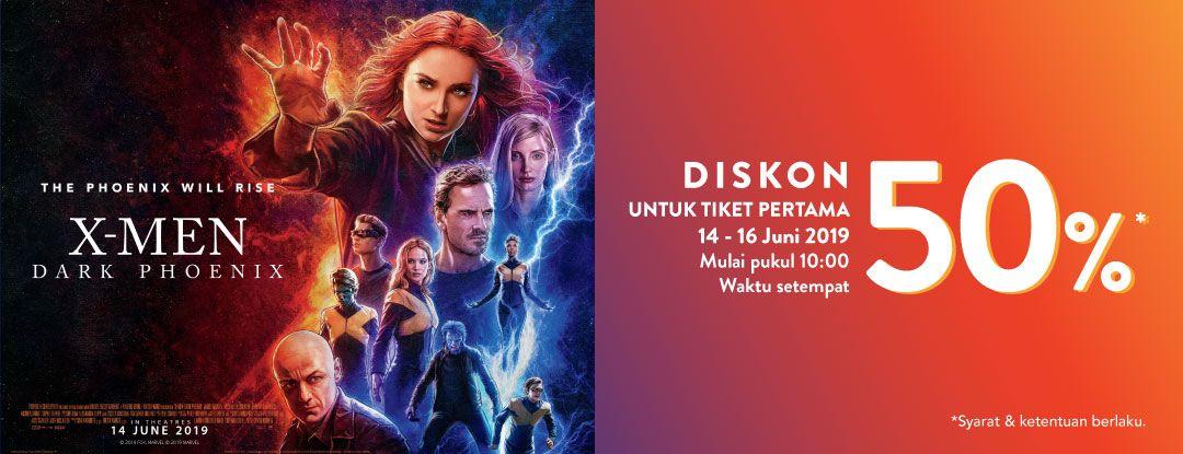 Diskon TIX ID Promo Diskon 50% Untuk Tiket Pertama Nonton Film X-Men: Dark Phoenix
