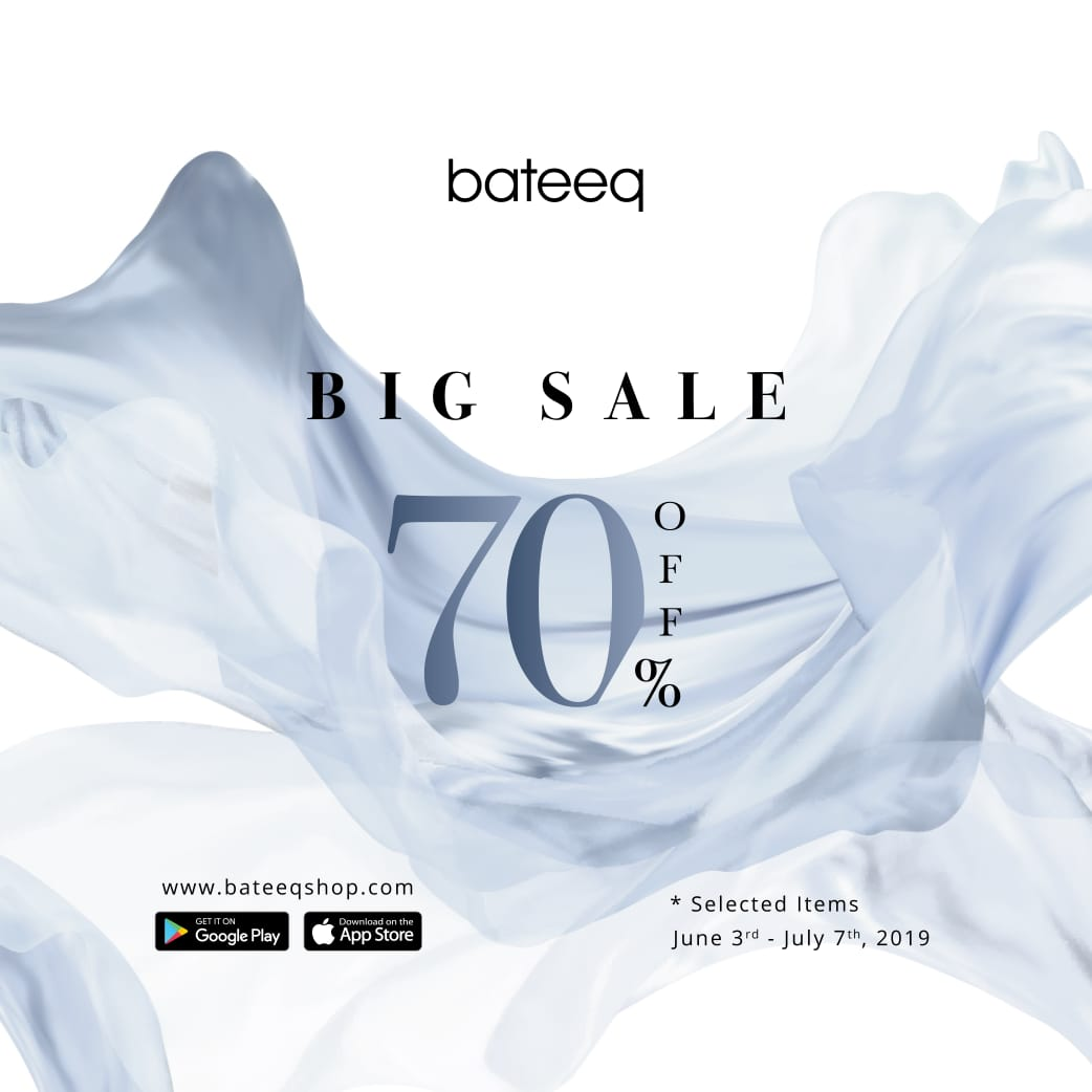 BATEEQ Big Sale Promo Discount 70% Off