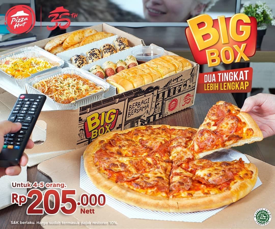 Diskon PIZZA HUT Promo BIG BOX DUA TINGKAT LEBIH LENGKAP menunya lebih banyak, harganya lebih hemat cuma Rp