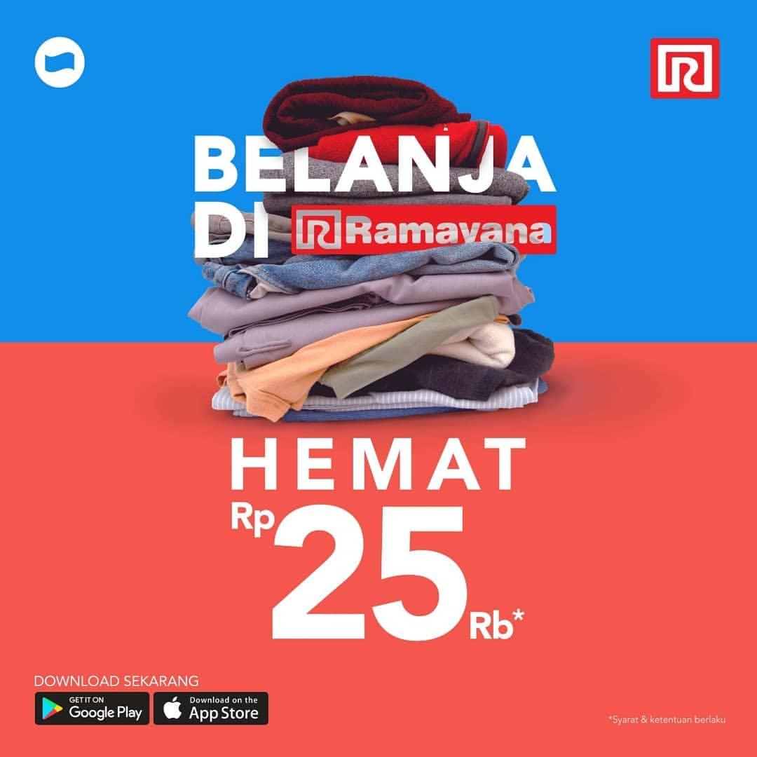 RAMAYANA Promo Transaksi dengan DANA Lebih Hemat Rp.25.000