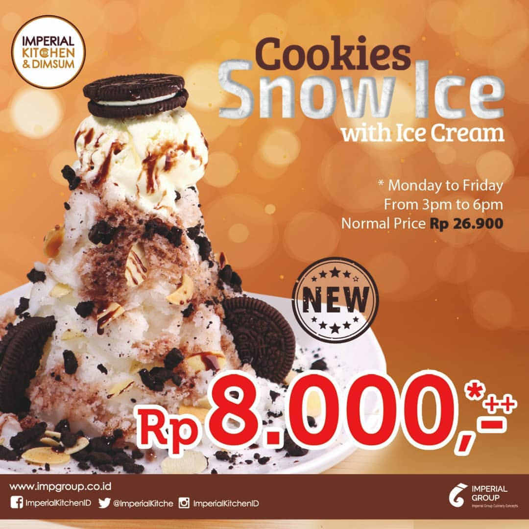 Imperial Kitchen & Dimsum Promo Cookies Snow Ice Hanya Rp 8.000
