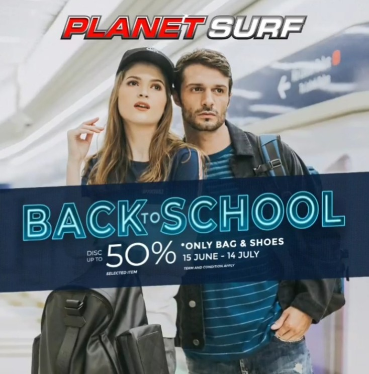 PLANET SURF Back To School Disc Up To 50% Selected Items