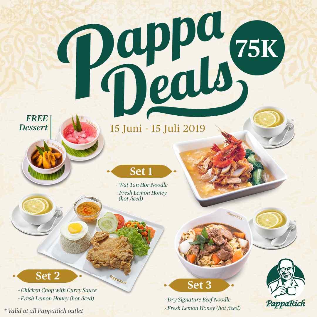 PappaRich Promo Pappa Deals 75 K + Free Dessert