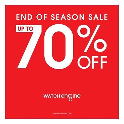 WATCH ENGINE Promo End Of Season Sale Disc Up To 70%
