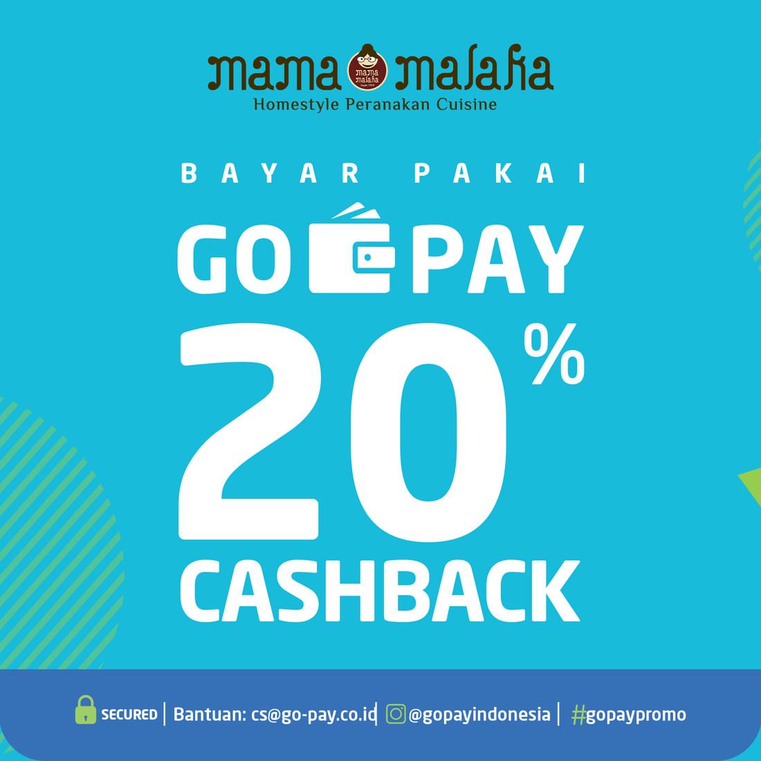 Mama Malaka Promo Bayar Pakai GOPAY dapat Cashback 20%