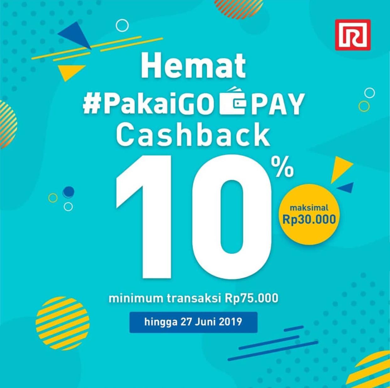 RAMAYANA Department Store Promo CASHBACK 10% untuk transaksi dengan GOPAY