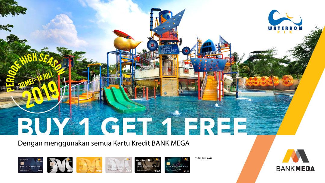Waterbom PIK Promo Mega, Buy 1 Get 1 Free