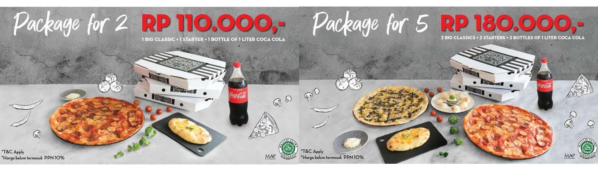 PIZZA MARZANO Promo Paket Spesial khusus GOFOOD + GRATIS Coca Cola 1 Liter