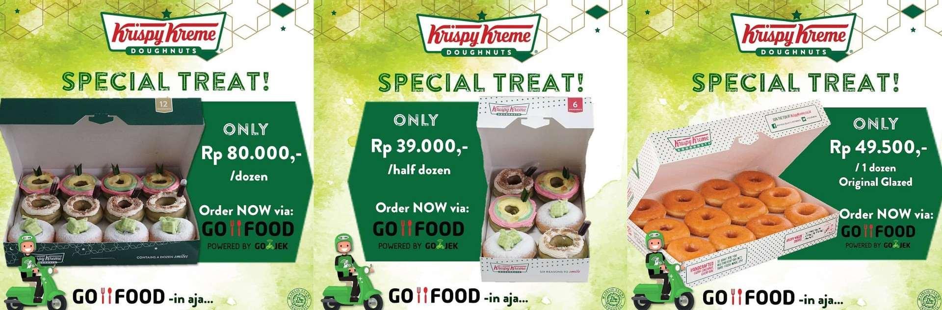 Diskon KRISPY KREME Promo Harga Spesial khusus untuk pemesanan via GOFOOD