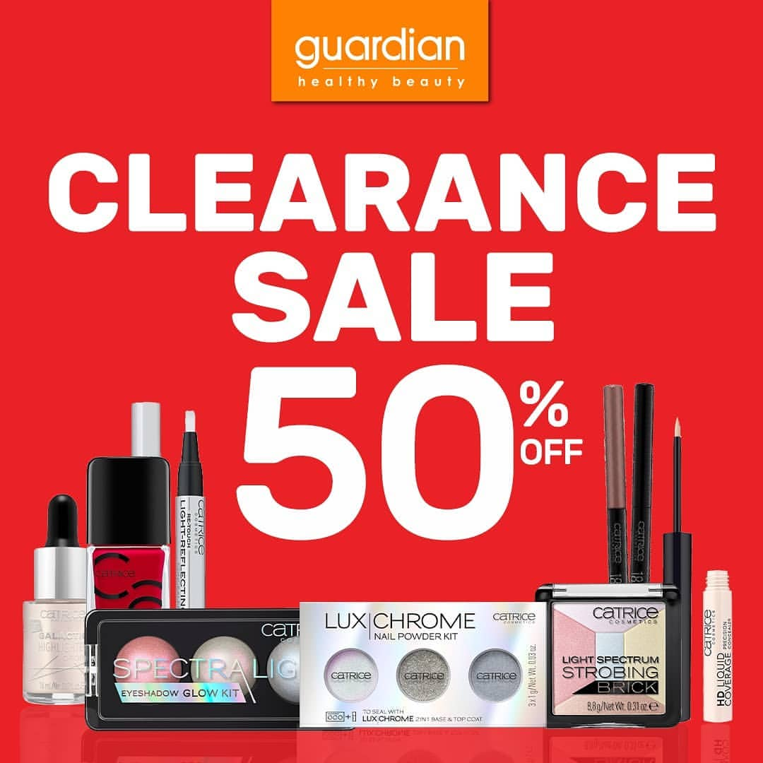 GUARDIAN Clearance Sale up to 50% off