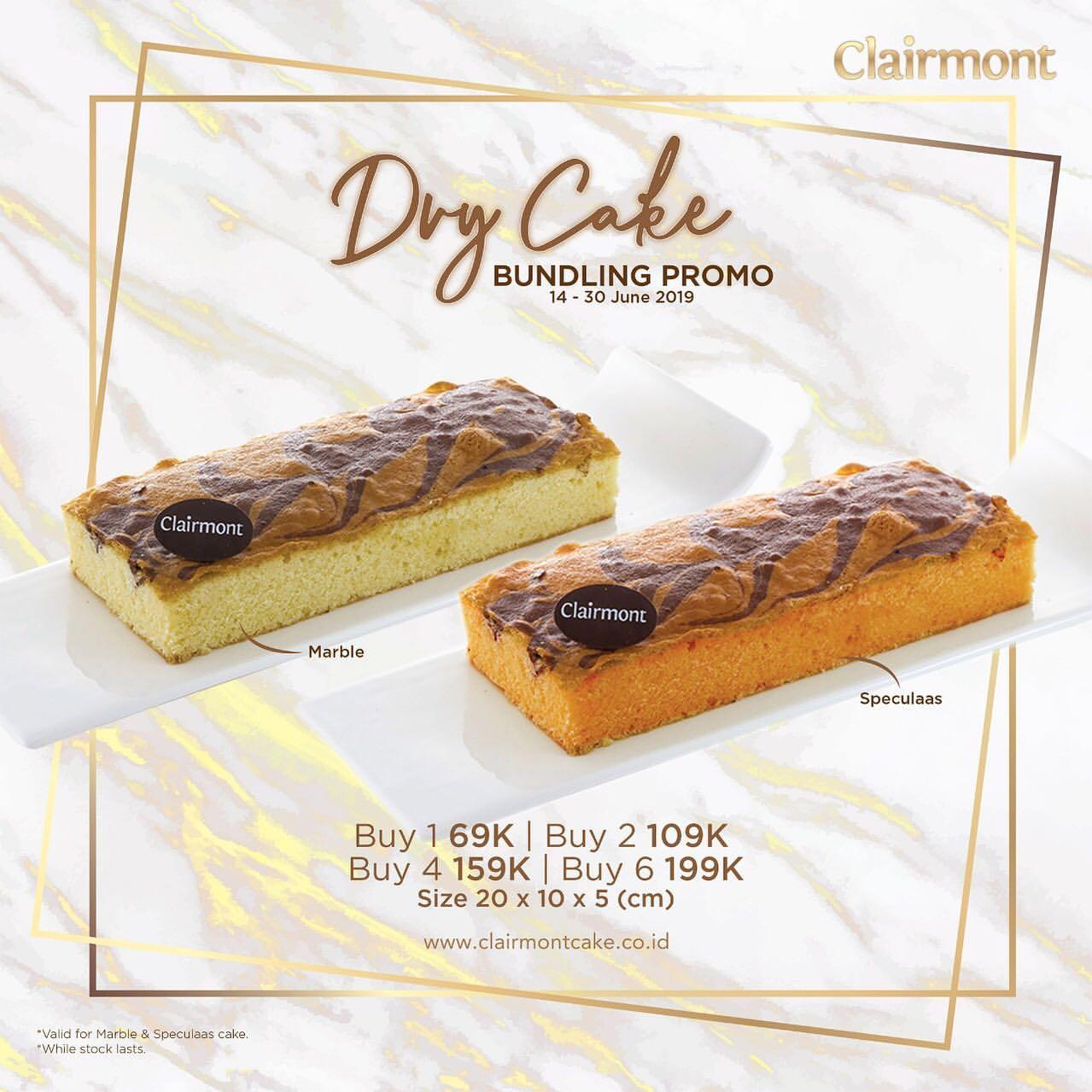 CLAIRMONT Patisserie Dry Cake Bundling Promo Beli Lebih Banyak Harga Lebih Hemat mulai Rp.69.000