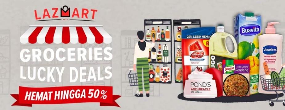 Lazada Promo Lazmart, Groceries Hemat Hingga 50% + 10%