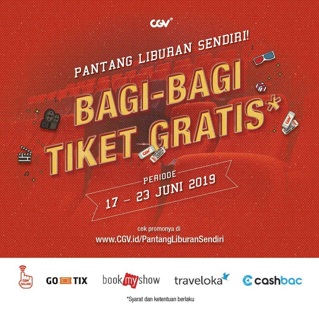 CGV Cinema Promo Pantang Nonton Sendiri, Bagi-Bagi Tiket Gratis