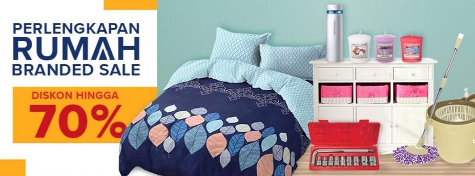 Lazada Promo Perlengkapan Rumah Branded Sale, Diskon Hingga 70%