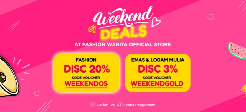 Diskon Blibli Promo Official Store Weekend Deals, Diskon Hingga 20%