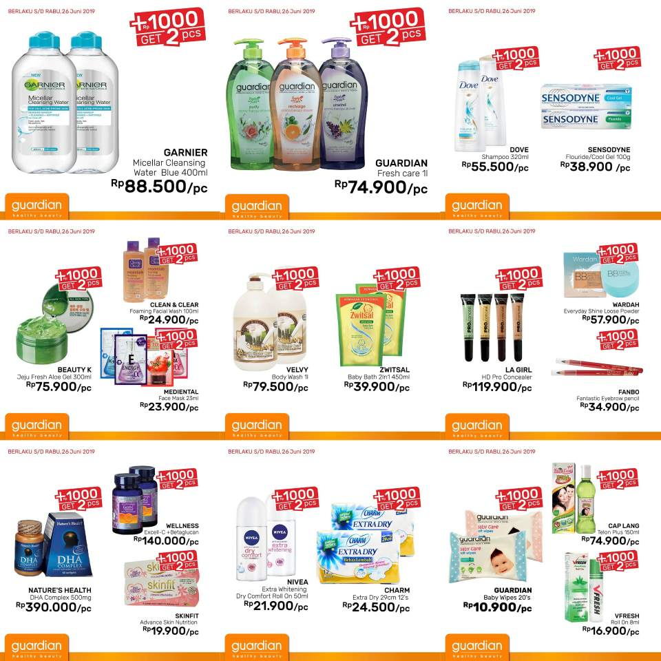 Diskon Katalog GUARDIAN Belanja dan Promosi Weekly Specials! periode 13-26 Juni 2019