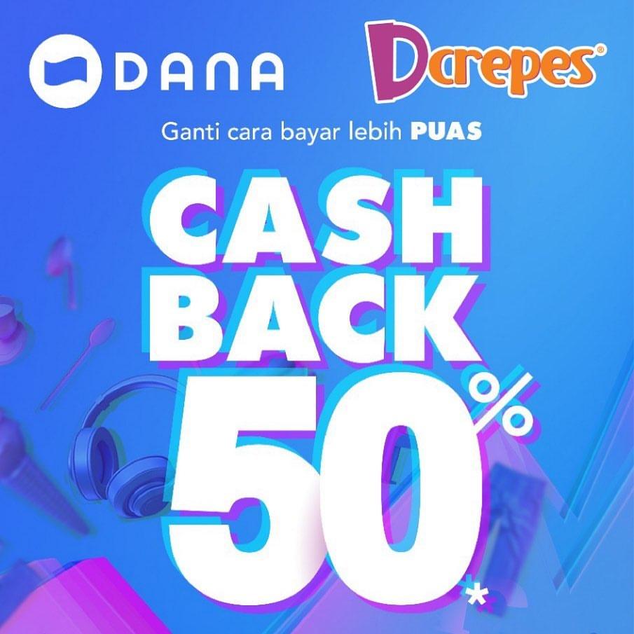 DCREPES Promo CASHBACK 50% dengan DANA