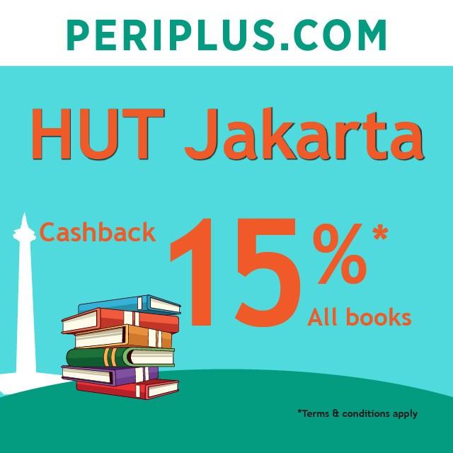 PERIPLUS.COM Promo HUT JAKARTA Cashback 15% semua Buku