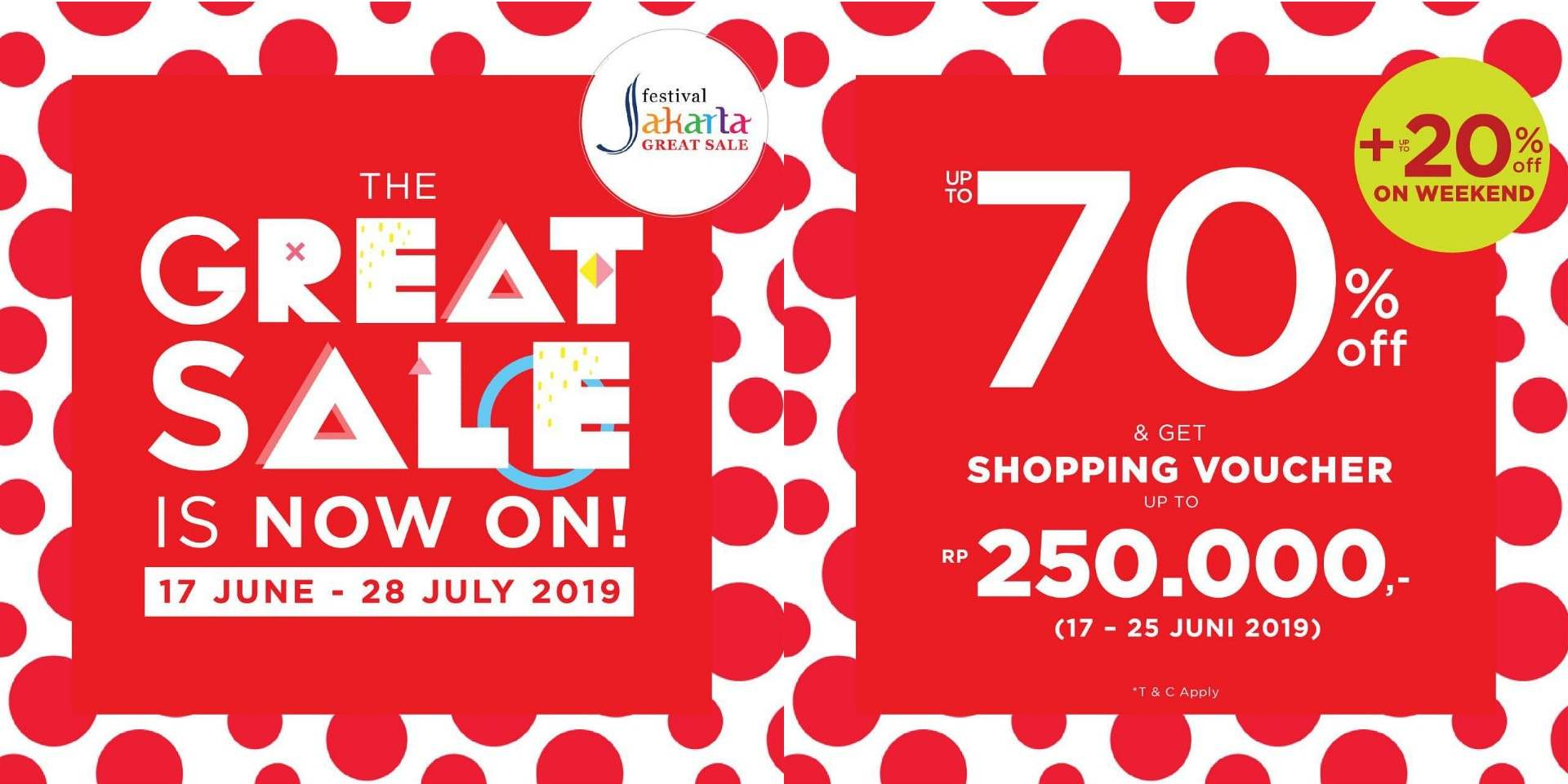 SOGO GREAT SALE! Enjoy up to 70% OFF and shopping voucher up to Rp.250,000