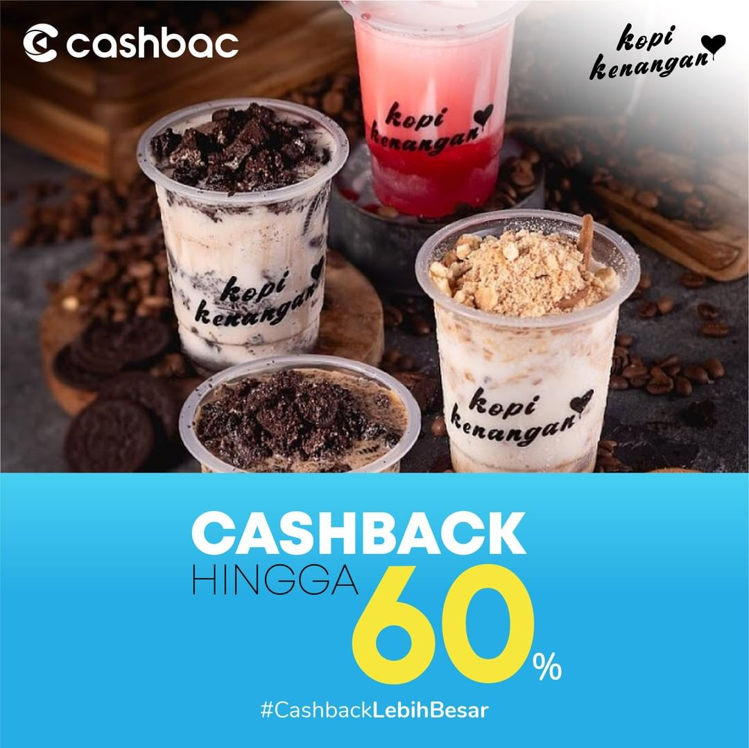 Diskon Kopi Kenangan Promo Cashback Hingga 60% dengan Cashbac