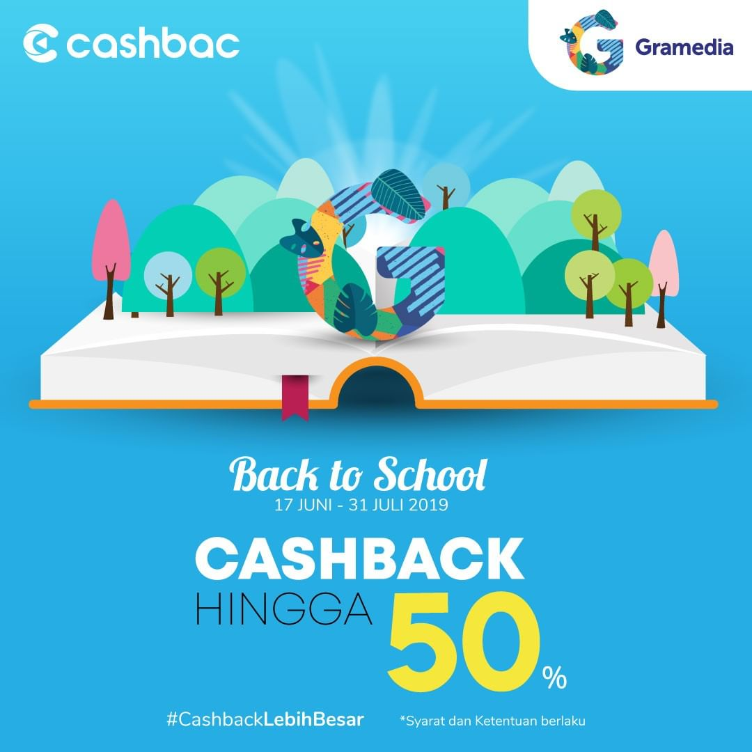 GRAMEDIA BOOKS FESTIVAL Promo Back to School Cashback Hingga 50%