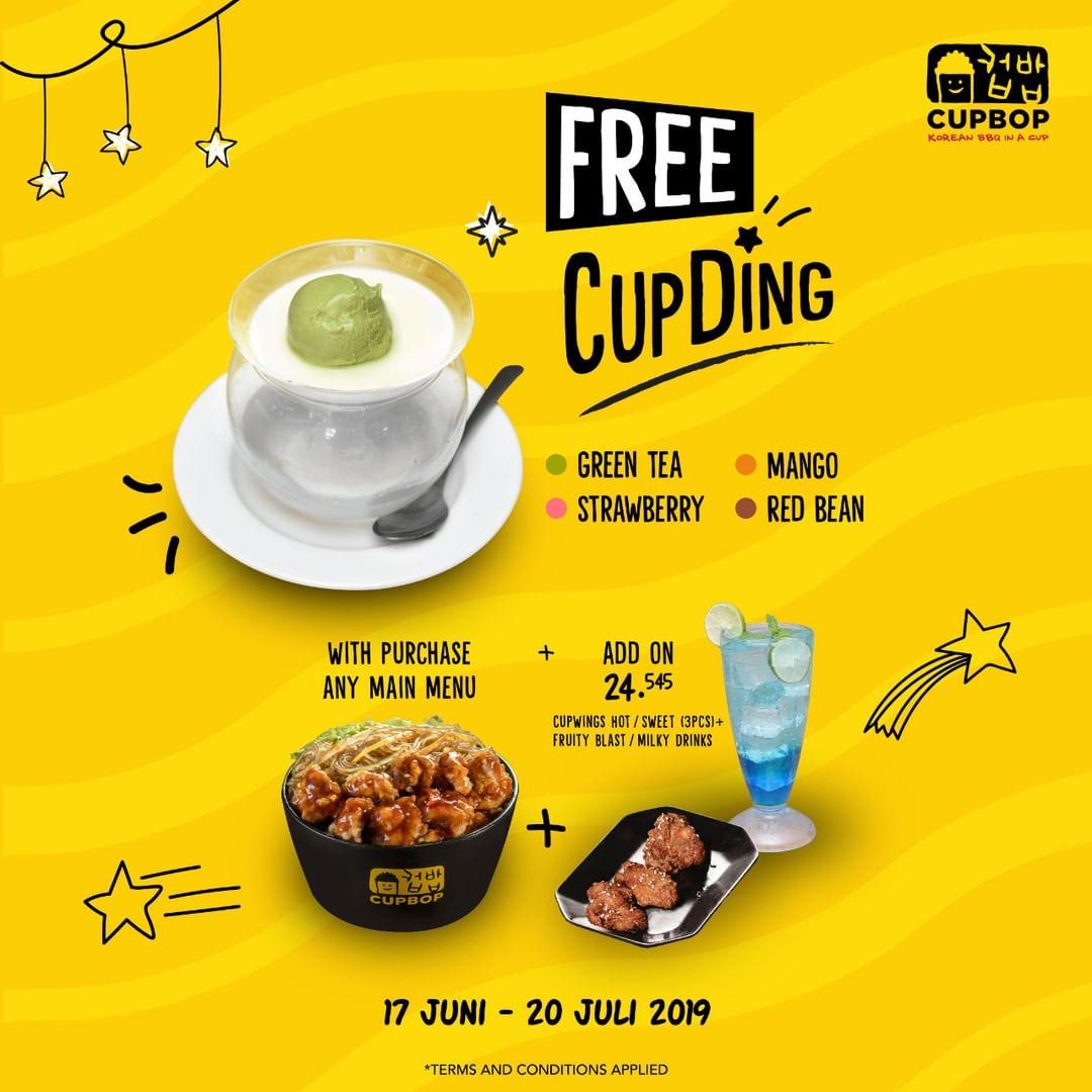 CUP BOP Promo Free CupDing Setiap Pembelian Main Menu + Add On Paket B