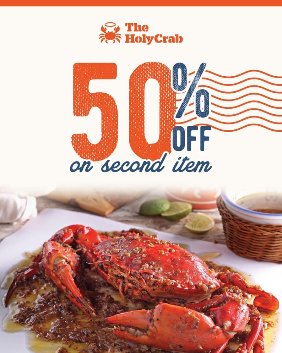 THE HOLY CRAB Promo Discount 50% Off On Second Item