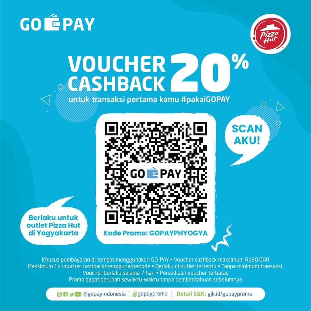 PIZZA HUT Promo VOUCHER CASHBACK 20% dengan GOPAY