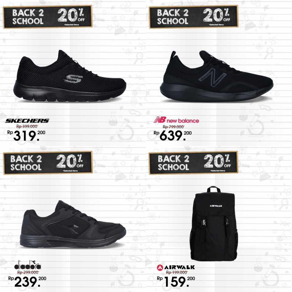Diskon SPORTS STATION Promo Back To School, Discount 20% off selected items