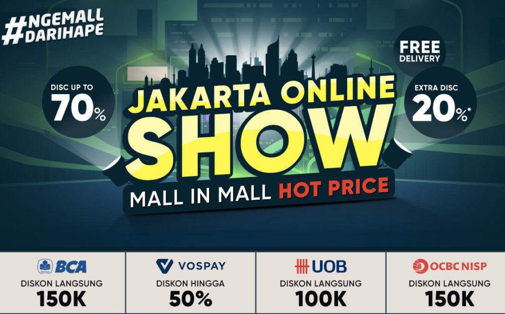 iLOTTE.COM Promo JAKARTA ONLINE SHOW, Disc up to 70% + Extra Disc 20% + Free Delivery!